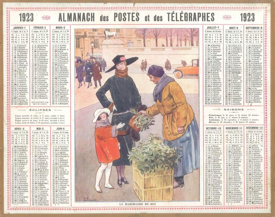 Calendrier 1923